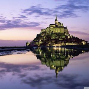 Marea del secolo a Mont Saint-Michel