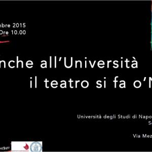 Nest (Napoli Est Teatro) ospiti alla Federico II