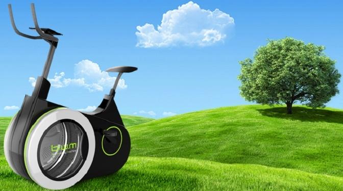 """Cyclette-lavatrice per un bucato """"green"""""""