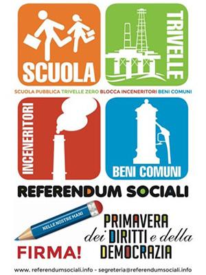 Referendum Sociali: al voto per scuola, ambiente e beni comuni