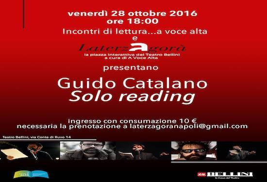 Guido Catalano, poesie ad alta voce