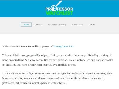 Professor Watchlist