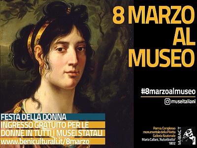 8 marzo: ingresso gratuito ai musei per le donne