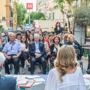 Guida, Rogiosi e Alessandro Polidoro in piazza con Iocisto e LiberArte