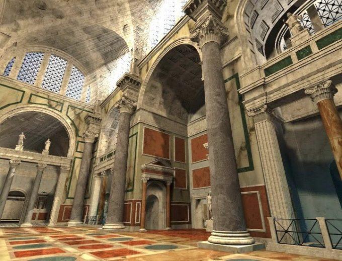 Le Terme di Caracalla 3d