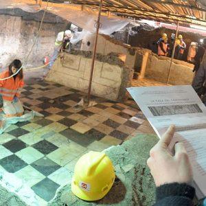 La casa del comandante rivede la luce a Roma durante gli scavi per la metro C
