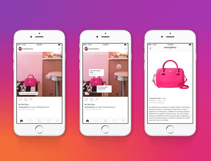 Instagram: arriva in Italia la funzione shopping