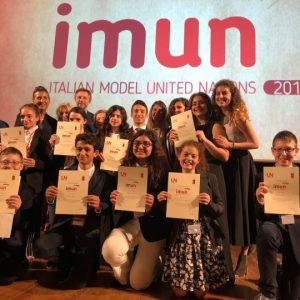 Imun, il titolo di BEST DELEGATES dell'edizione 2018 va a tre giovani studenti  di scuole medie del ...
