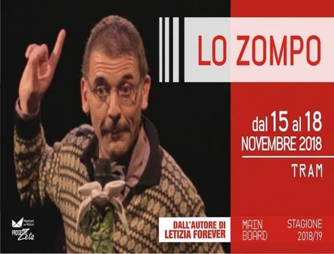 Lo zompo, lo spettacolo di Rosario Palazzolo al TRAM
