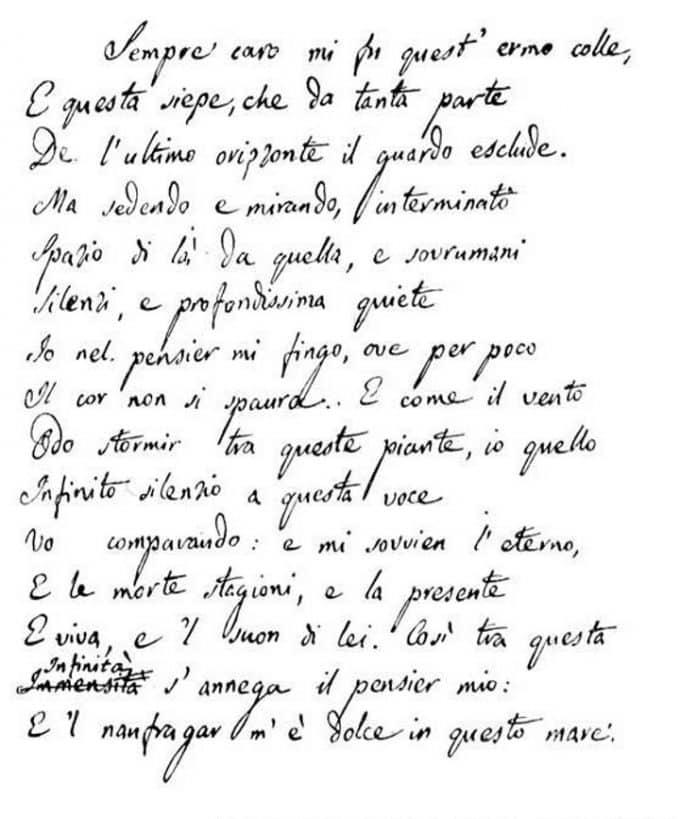 """""""L'infinito """" celebrato da Davide Rondoni"""