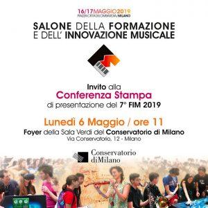 Invito Conferenza Stampa di presentazione FIM 6 Maggio: Conservatorio Giuseppe Verdi di Milano