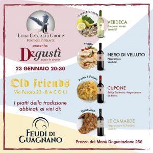 Il Degustì Tour fa tappa presso l'Old Friends a Bacoli