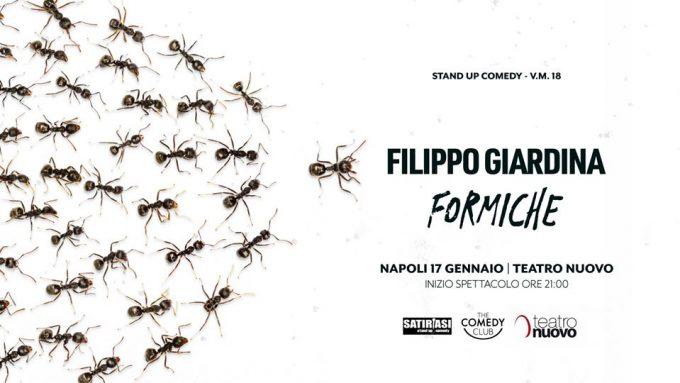 Filippo Giardina al Teatro Nuovo di Napoli con Formiche