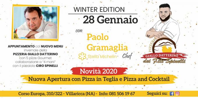 Giallo datterino presenta cinque nuove pizze invernali
