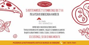 Ciro Pellecchia della Pizzeria e Ristorante Antico Borgo ai Vergini a sostegno della Casa dei Crista...